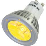 Lampe à LED 1 x 3 W, JAUNE, 230 V~