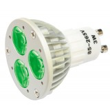 Lampe à LED 3 x 1 W, VERT, 230 V~