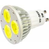 Lampe à LED 3 x 1 W, JAUNE, 230 V~