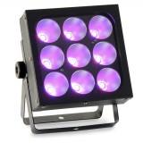 Changeur de couleur à LEDs, 9x25 W, COB 3en1
