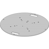 Embase lourde ronde 87 cm