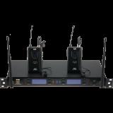 Système UHF, double avec 2 émetteurs ceinture