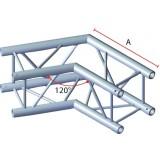 Angle 2 départs 120° pour structure carrée