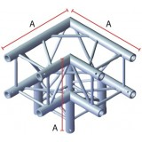 Angle 3 départs 90° pour structure carrée