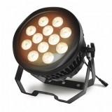 PAR à LEDs, 12x10 W, RGBW 4en1, IP65, beam 8°